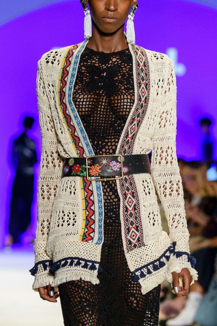 Desigual at New York Fashion Week Spring 2017 - (Details) Crochet Dress