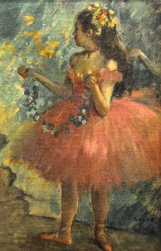 Edgar Degas - Dance rose, 1878 at Art Institute of Chicago IL Una de las grandes obras de ballet de Degas!!