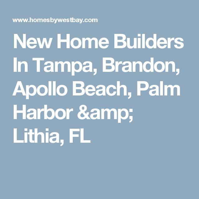 New Home Builders In Tampa, Brandon, Apollo Beach, Palm Harbor & Lithia, FL