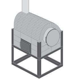 Para complementar nuestro quincho, fabricaremos un horno híbrido, esto significa que tiene una estructura metálica y un cuerpo de ladrillos. También tendrá un tambor que será el horno y por debajo una cámara de combustión hecha con ladrillos refractarios.