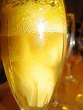Champagne sorbet!