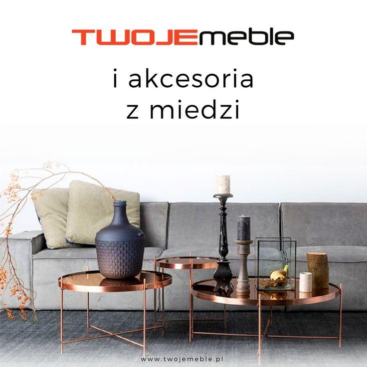 Twoje meble i akcesoria z miedzi – na zdjęciu stolik Cupuid, Zuiver #TwojeMeble #MiedzianeMeble #MedzianeAkcesoria #StolikMiedziany #Stolik #Cupid #Zuiver