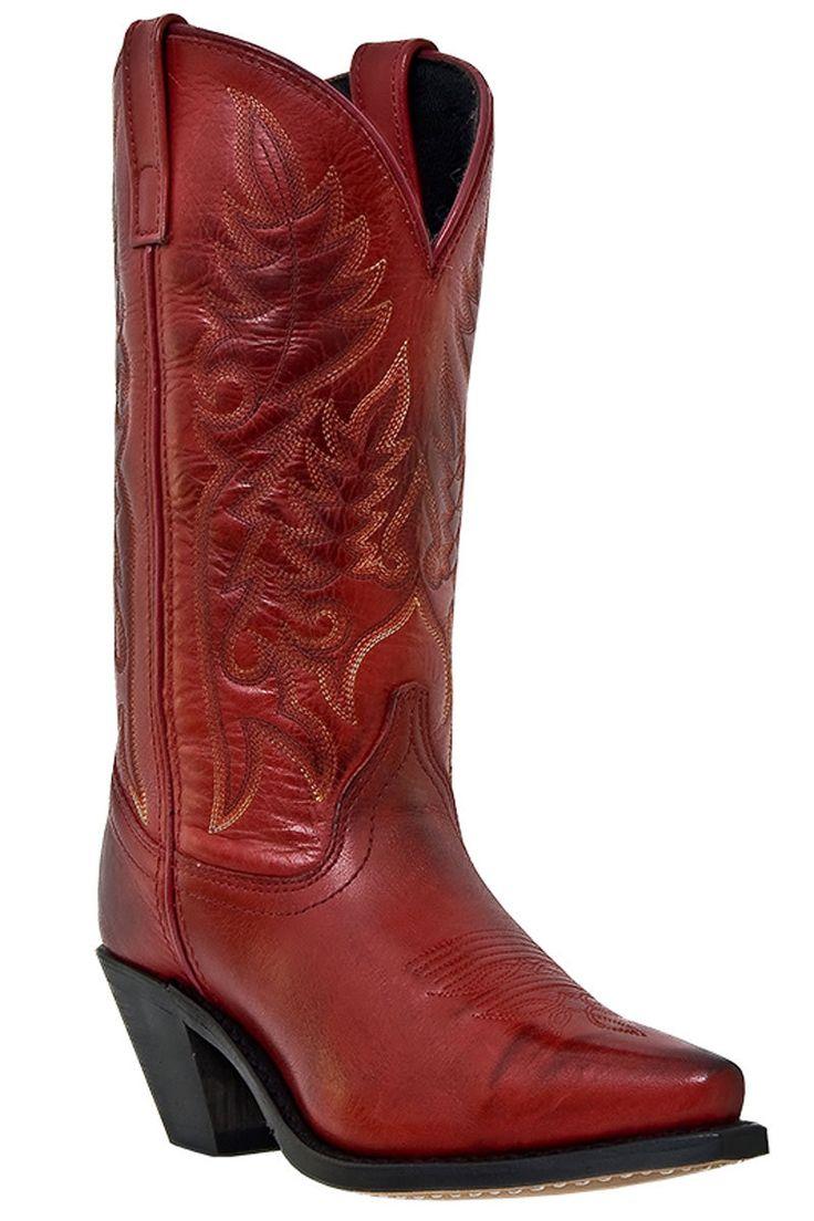Laredo Women's Madison Burnished Red Cowgirl Boots