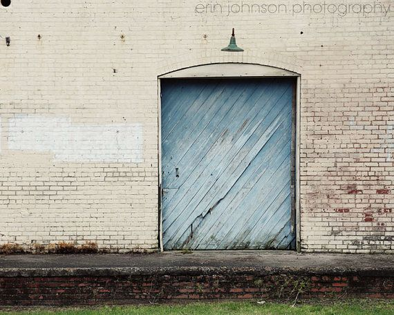 door photography industrial decor blue home decor rustic old warehouse white home decor building photography The Big Blue Door & 10 best warehouse doors images on Pinterest | Industrial door ...