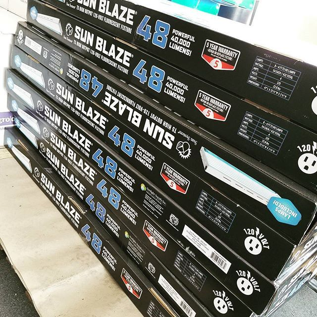 Fully stocked 🌞🔥🌱💪 powerful 40,000 lumens.! The Sunlight Supply Sun Blaze light fixtures are great for a low cost option packed full of high cost features.  #sunlightsupply #t5 #growyourown #garden #hydroponics #urbanfarming #salinasvalley #montereybay #salinasca #831 #montereybaylocals - posted by centralcoastgarden&farmsupply https://www.instagram.com/centralcoastgardenfarmsupply - See more of Monterey Bay at http://montereybaylocals.com