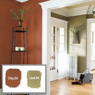 I Think Like These Colors Together The Clay For Accent Wall In