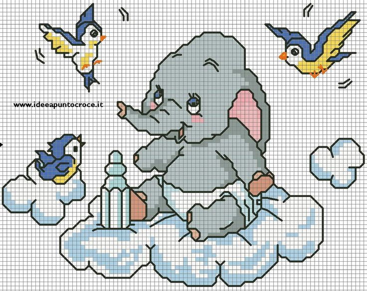 Dumbo baby by syra1974 on deviantart punto de cruz 1 for Schemi punto croce bambini disney