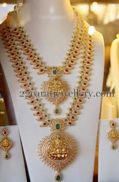 Jewellery Designs: Mango Necklace by Subham Jewellers