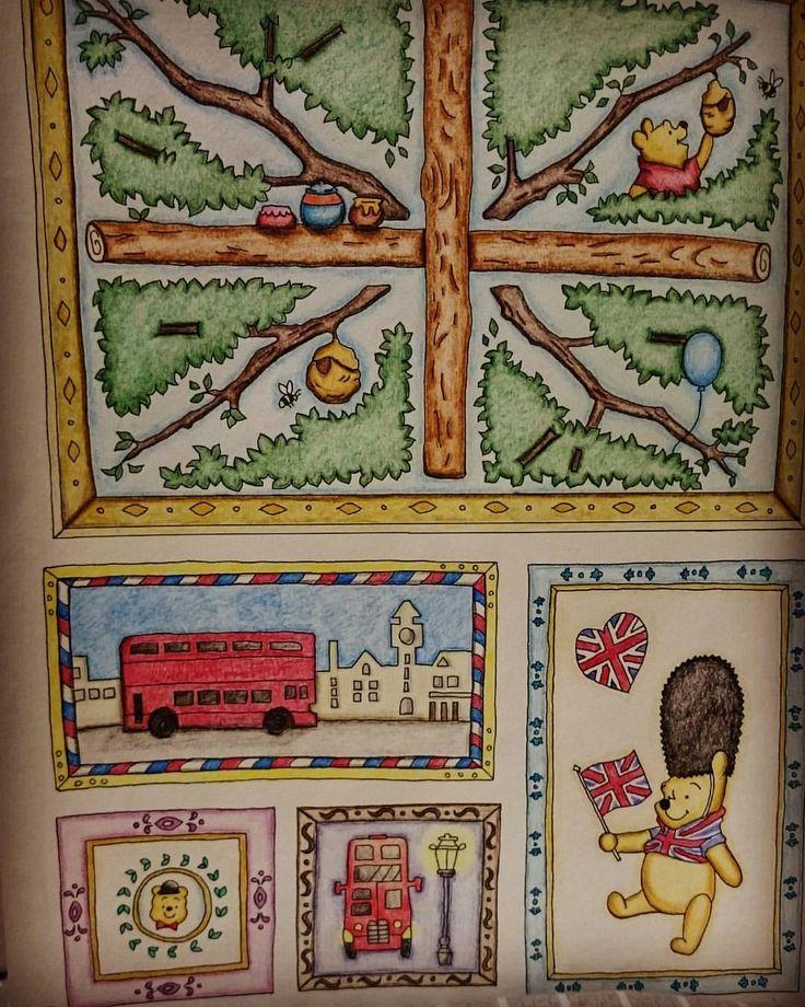 #旅するディズニー塗り絵 #くまのプーさん #左半分 #塗り絵はむずい #大人の塗り絵 #コロリアージュ #coloriage #coloring #disney