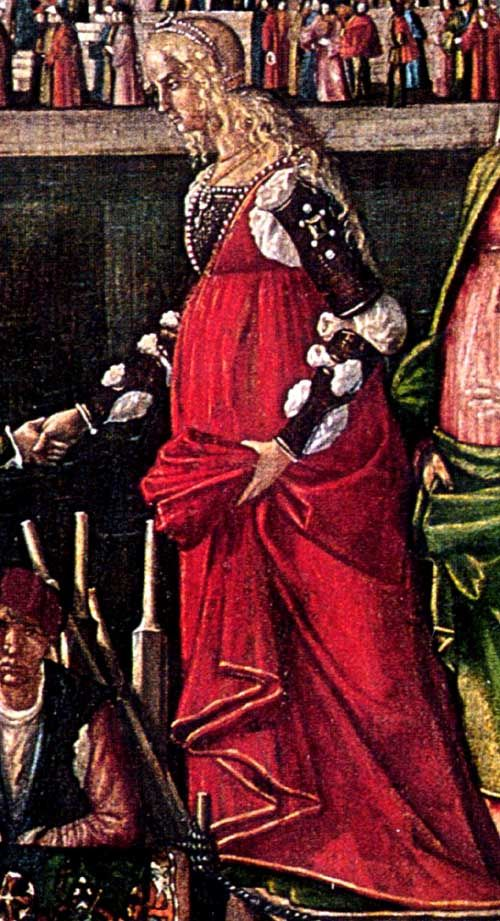 Venice, Republic of Venice  Vittore Carpaccio, 1495: Meeting of the Betrothed Couple (detail)  Venice, Galleria dell'Accademia
