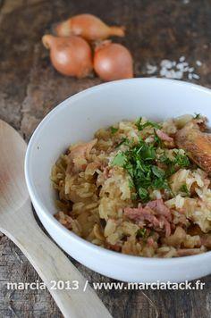 Risotto de poulet, lardons et champignons via @marciatack