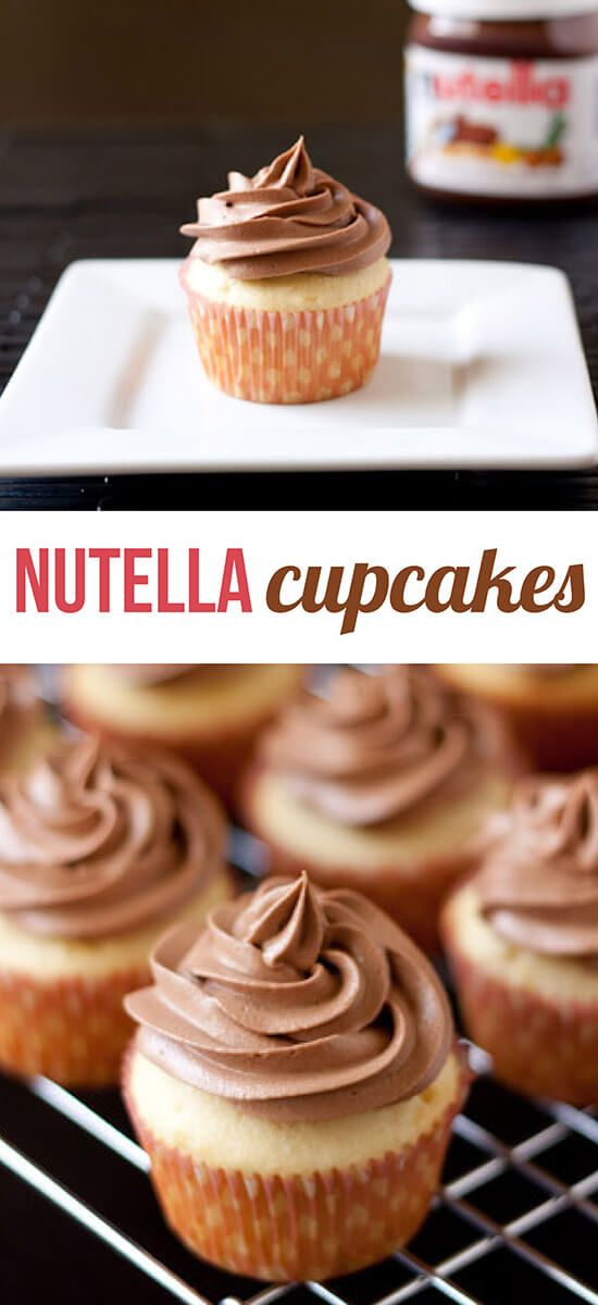 Your favorite chocolate hazelnut spread in cupcake form!