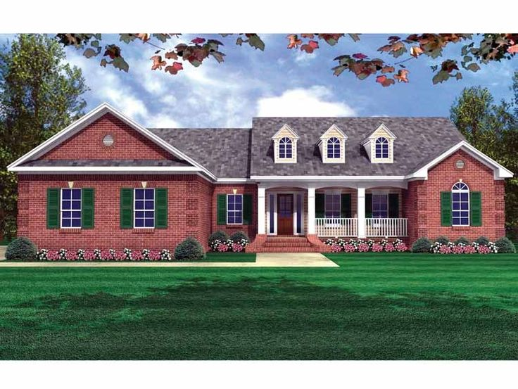 Farmhouse house plan with 2000 square feet and 4 bedrooms for European farmhouse plans
