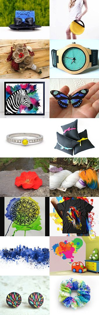 Color splash by Ewa Pikuła on Etsy--Pinned+with+TreasuryPin.com