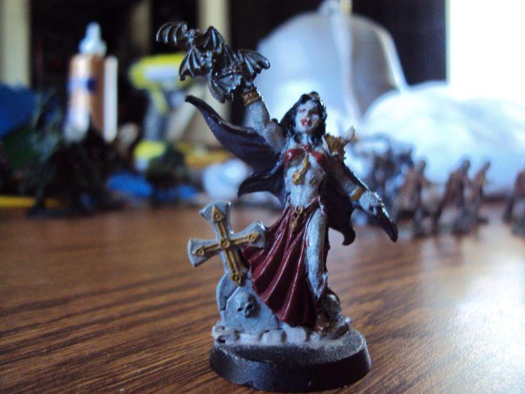 Female vampire figure that I painted.
