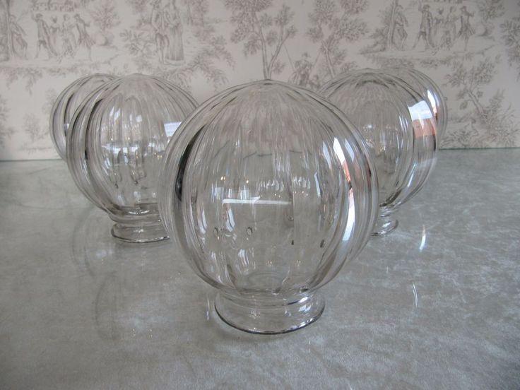 Antique Art Deco 5 Lamp Chandelier Baccarat Crystal Globe Shade Val St Lambert