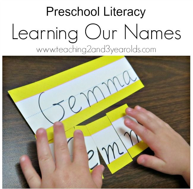 Preschool Literacy: Learning Letters in Our Names - Teaching 2 and 3 year olds