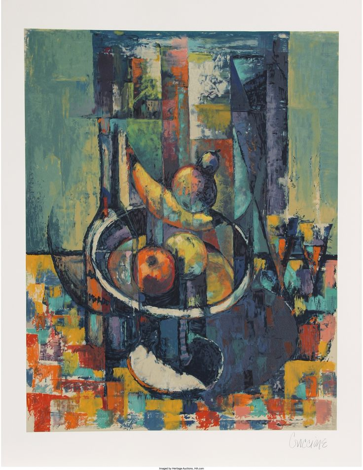Bob Guccione (American, 1930-2010) Still Life, 1990 Lithograph in colors on Arches paper 28-1/2 x 22-1/4 inches (image) 35-1/2 x 28-3/8 inches (sheet) Artist proof Signed in pencil in lower margin
