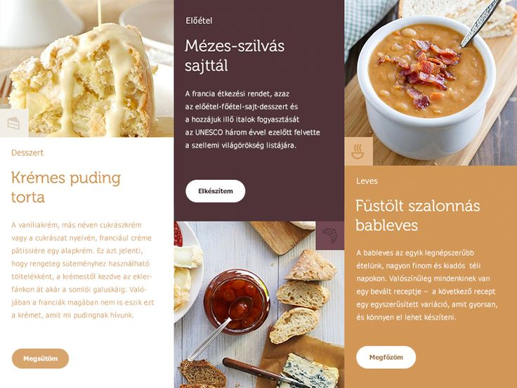 layout for recipe site
