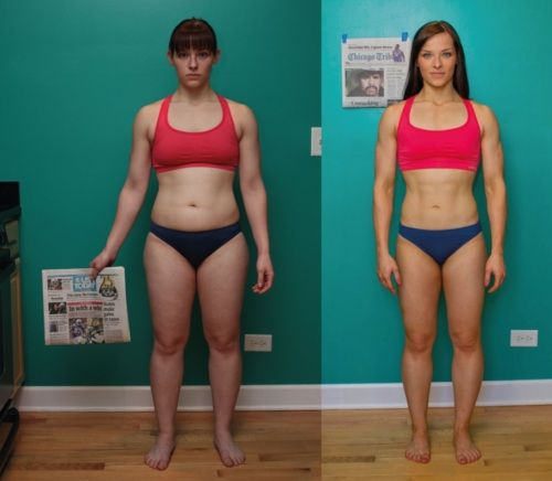 Fitness Girl Girl Before After