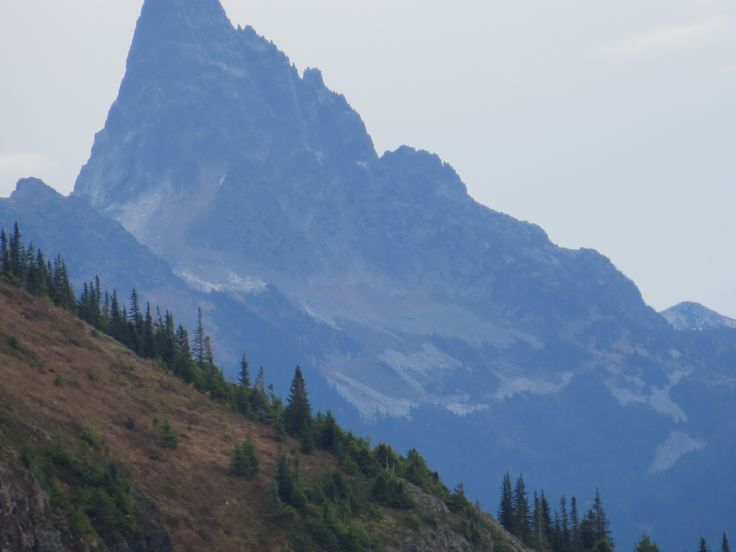 Mt Slesse, 2439 m (8002 ft), as seen from Elk Mtn, Chilliwack BC.