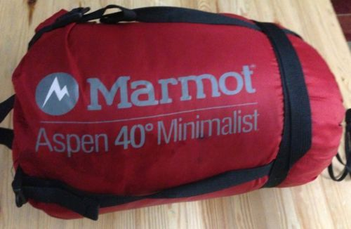 Marmot Aspen 40F Minimalist Sleeping Bag (Men's) $60
