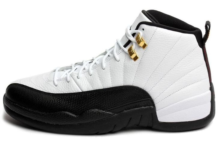 "Nike Air Jordan 12 Retro ""Taxi"" Leder-Basketball-Schuhe"
