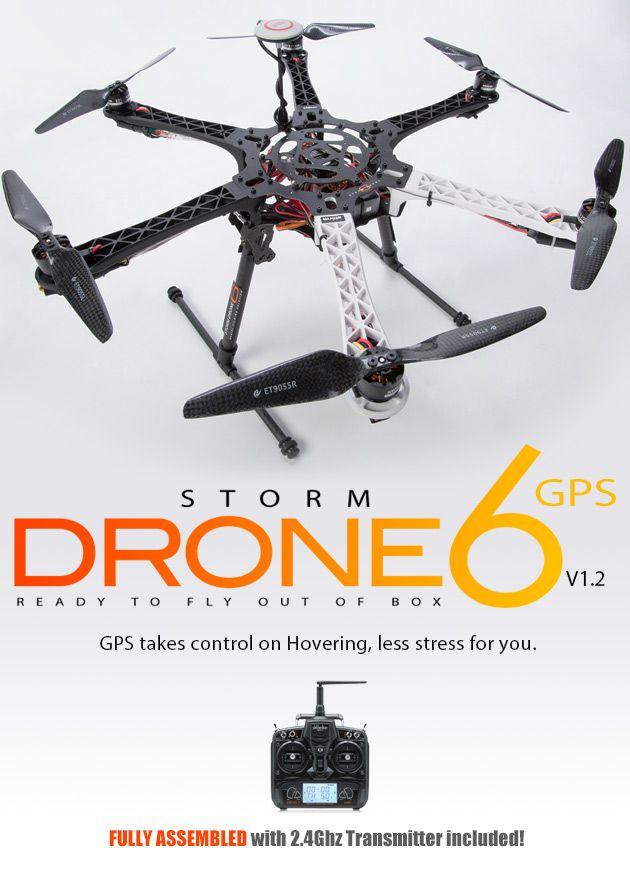 STORM Drone 6 GPS Flying Platform V1.2 - Storm-Drone-6-GPS-DEVO7