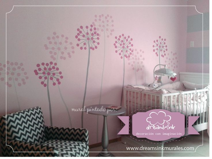 a perfect little mural to pop up the rest of the decoration. #murals #walldecals #decoration #kidsrooms