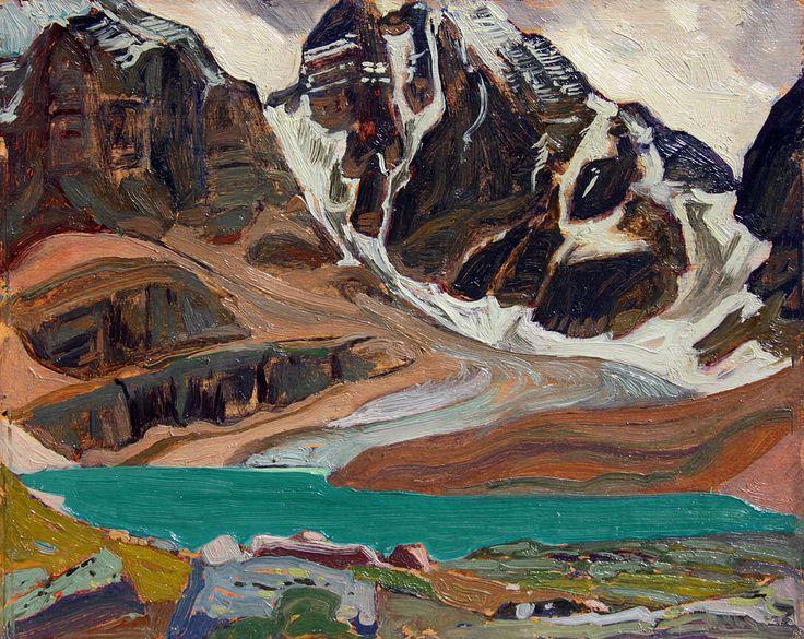 """Lake Oesa Yoho National Park,"" James E.H. MacDonald, 1926, oil on panel, 8.5 x 10.5"", private collection."