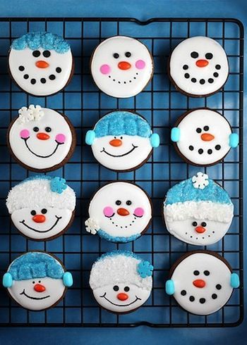 christmas cupcake decorating ideas | Christmas Cupcakes | Blue Snowman | Baking DIY