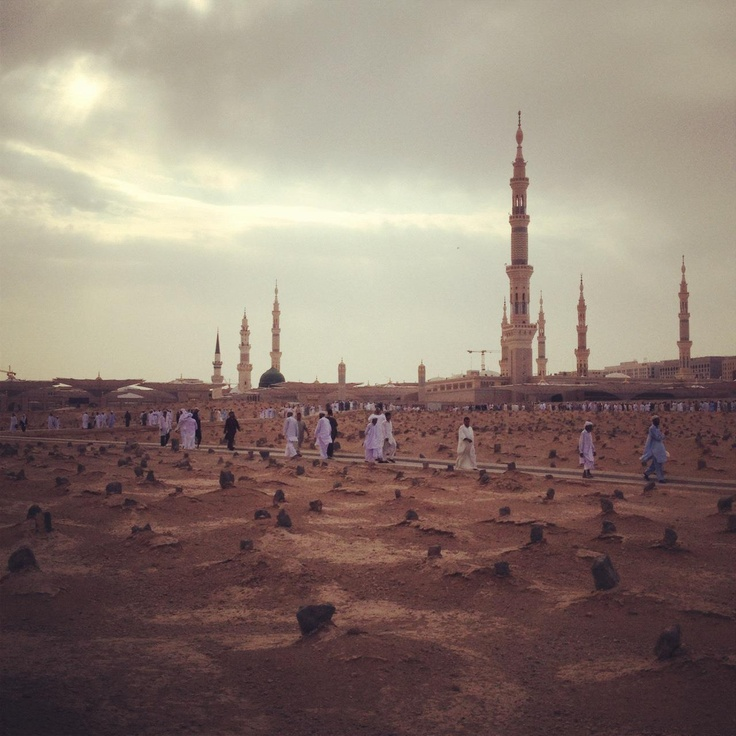 Janatul Baqi graveyard and view of the Prophets Mosque