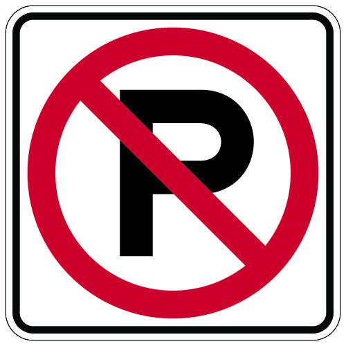 R8-3A No Parking Symbol Sign 18x18
