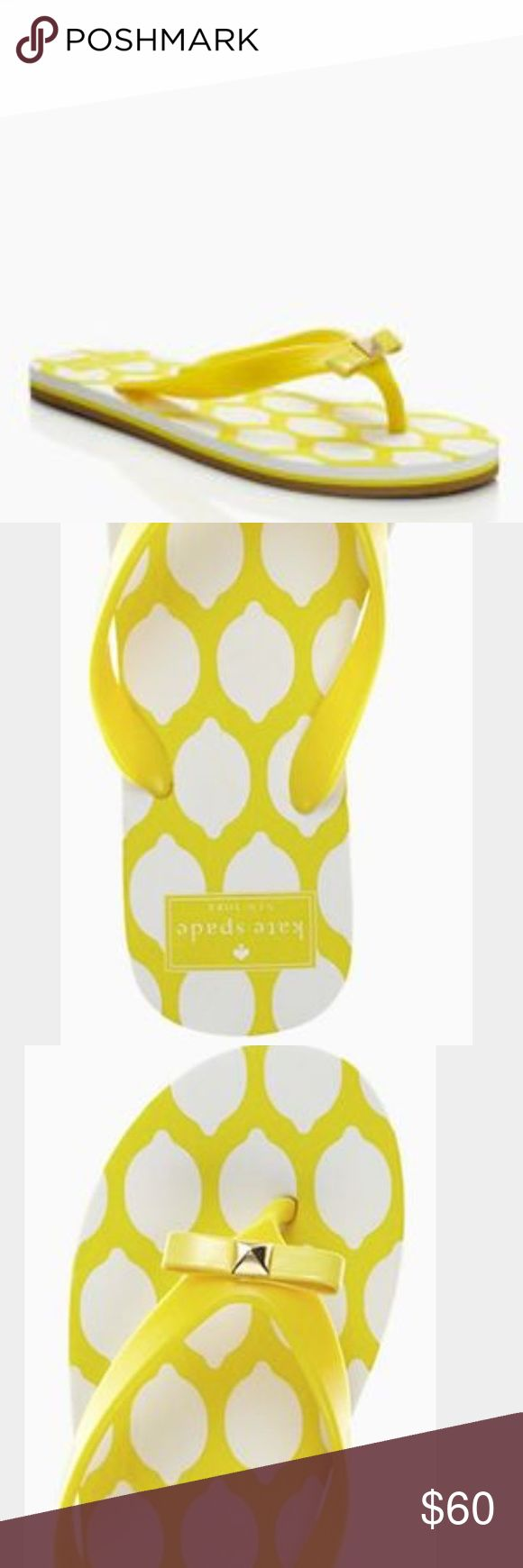Kate Spade Yellow Flip Flops Kate Spade New in Box Flip Flops. So cute! Size 8 Bundle and Save 10%!    Top Rated Seller ⭐️⭐️⭐️⭐️⭐️ Same or Next Day Shipping!  kate spade Shoes Sandals
