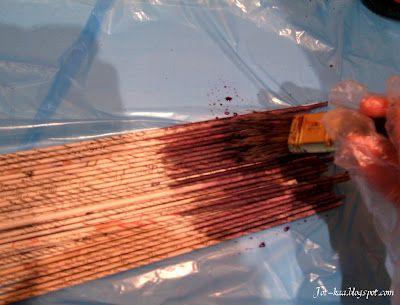 Papierowa wiklina od podstaw - Cz.2- barwienie rurek, malowanie gotowych ko...