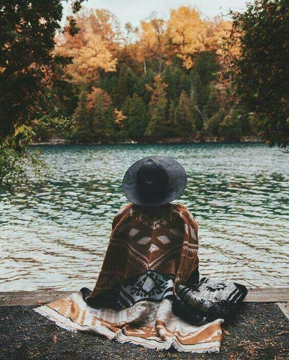 fall | travel | Indian blankets | hipster hats | outdoors | explore | lakeside | camping | water | colors
