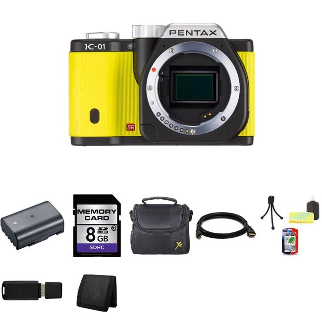 Pentax K-01 16MP Digital SLR Camera Bundle