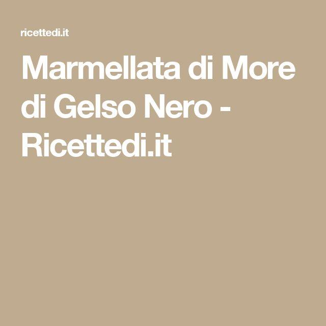 Marmellata di More di Gelso Nero - Ricettedi.it