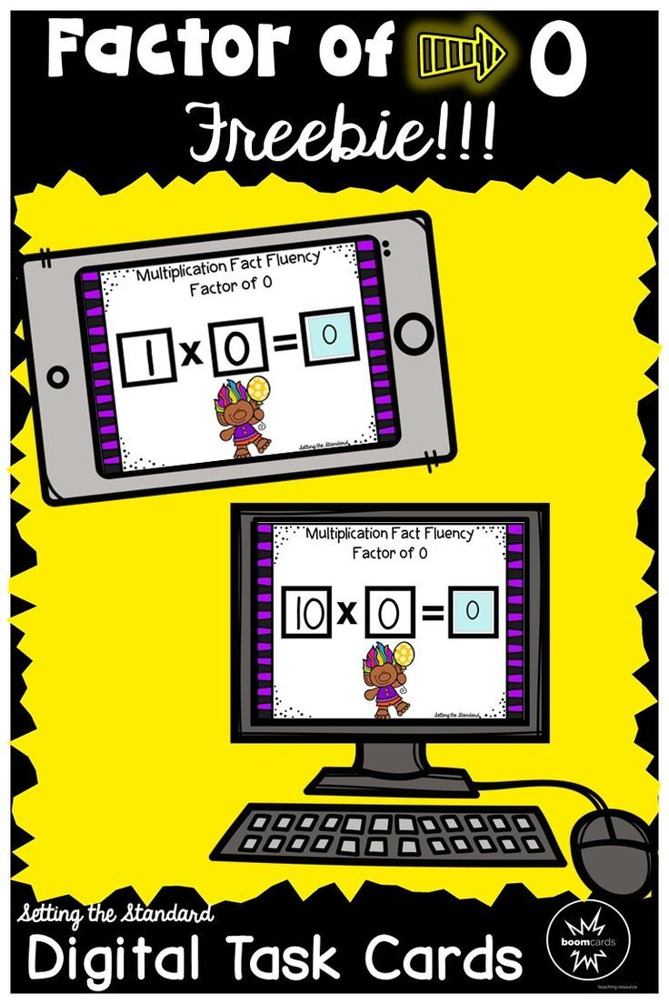 This freebie contains a set of digital task cards in which students will determine the product in multiplication number sentences with the factor of 0.  These task cards work great for multiplication fact fluency, introducing a new multiplication fact, or with struggling students. You will love the data provided on each students progress! Boom learning cards will save you time with grading and help you to track your students progress. A fun & easy way to bring technology into your classroom!