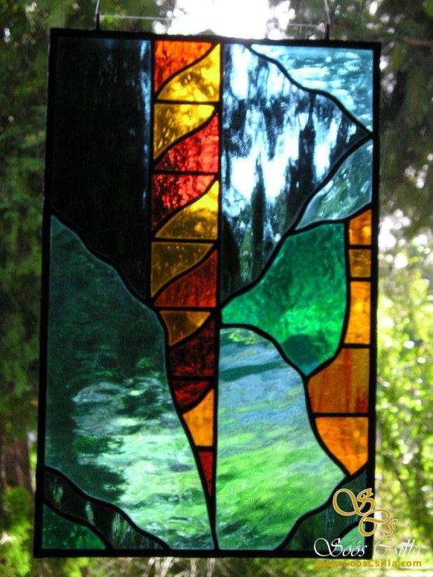 Farebná Vitráž Výplne Okna Dverí Ozdobné Sklo Staršie Práce |
