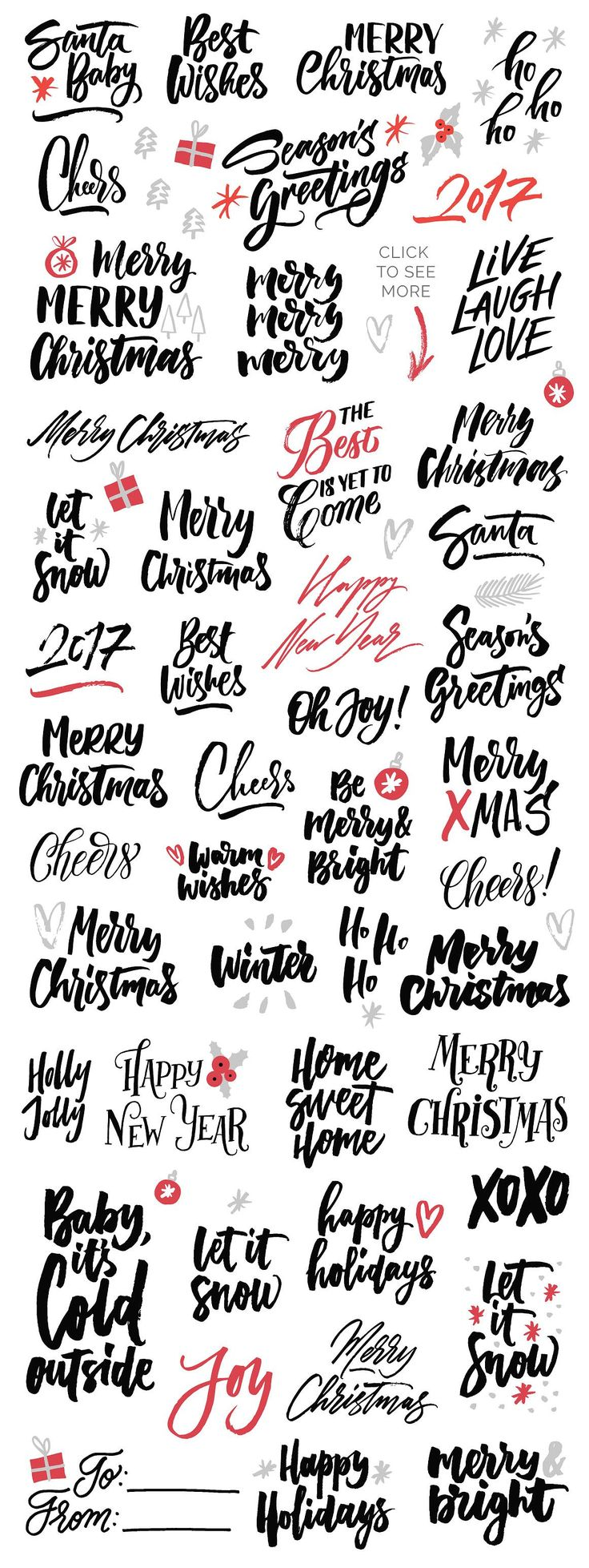 Christmas Overlays by Type and Graphics Lab on @creativemarket