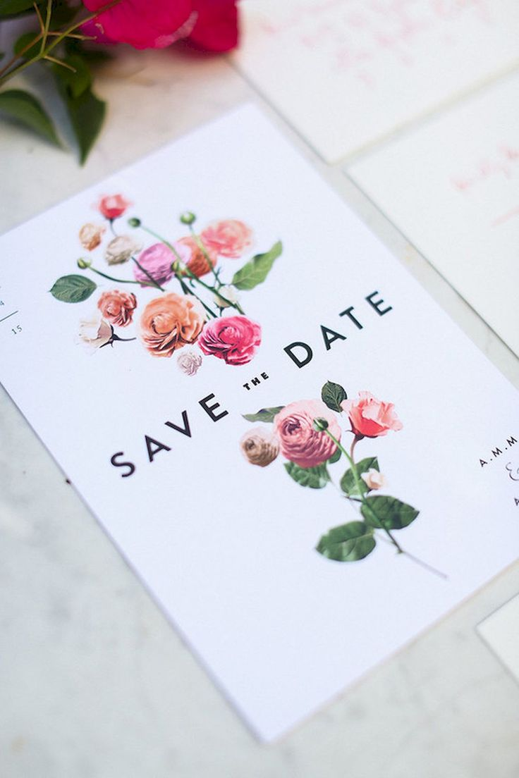 Adorable 34 Beautiful Floral Wedding Invitation Ideas https://bitecloth.com/2017/07/18/34-beautiful-floral-wedding-invitation-ideas/