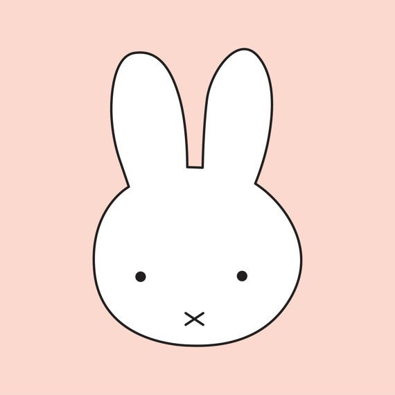 Printable Pink Miffy Decor