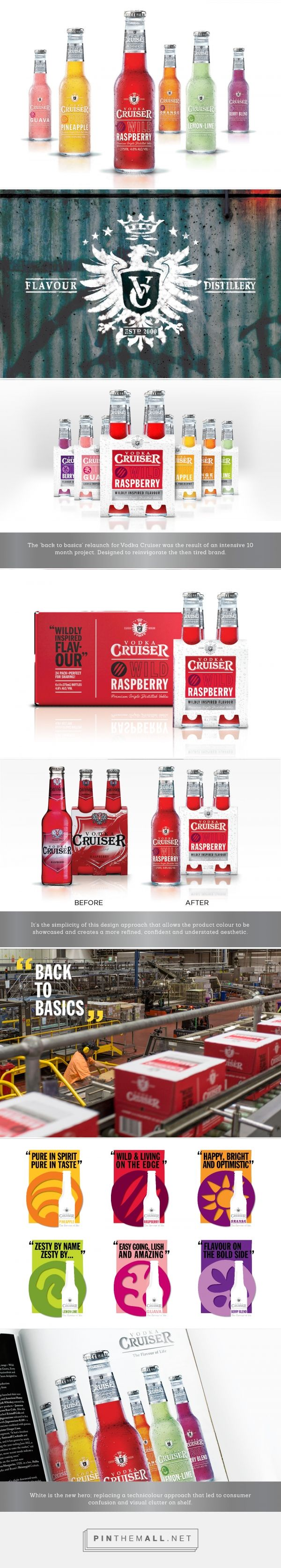 Gotta love a good rebrand that refreshes and adds value to a brand. Vodka Cruiser rebrand by The Edison Agency. Source: Behance. Pin curated by #SFields99 #packaging #design #inspiration #ideas #rebrand #product #creative #innovation #backtobasics #vodka #mixers #alcoholic #beverages