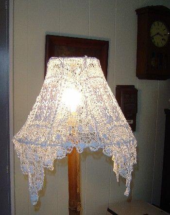 Square Cotton Vintage Doily Lamp Shade Cover I Like How The Corners Drape