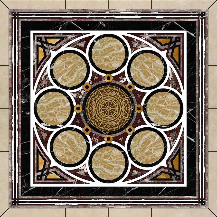 Foyer Decor Abu Dhabi : Arabic islamic marble flooring abu dhabi uae on behance