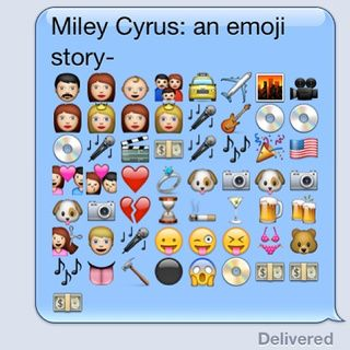 A Remarkably Accurate Emoji Biography of Miley Cyrus, Jezebel