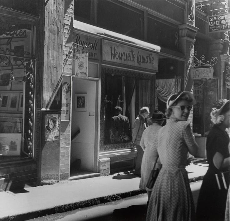 Rowe Street, c. 1950 / photographed by Kerry Dundas #sydney #history #sunglasses…