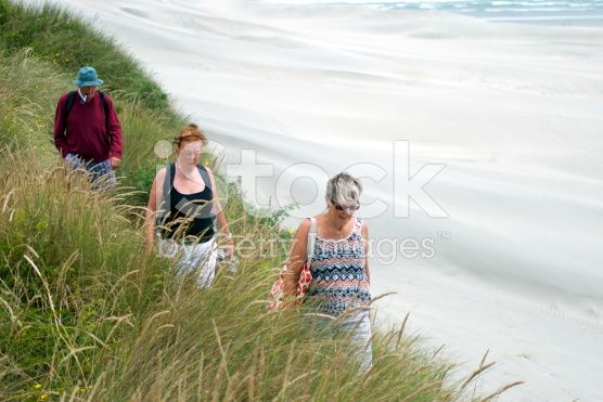 Senior People  walking Coastal Path royalty-free stock photo