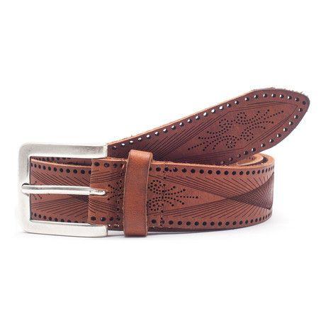 Wallace Leather Belt // Tan (34)